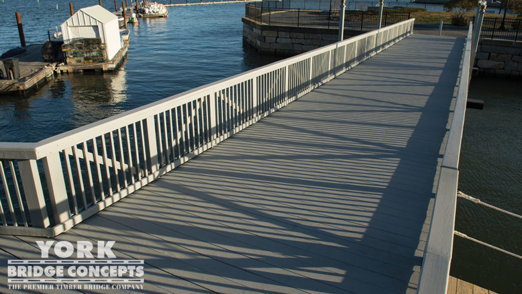 Whitney Wharf Pedestrian Bridge - Hingham, MA | York Bridge Concepts - Timber Bridge Builders
