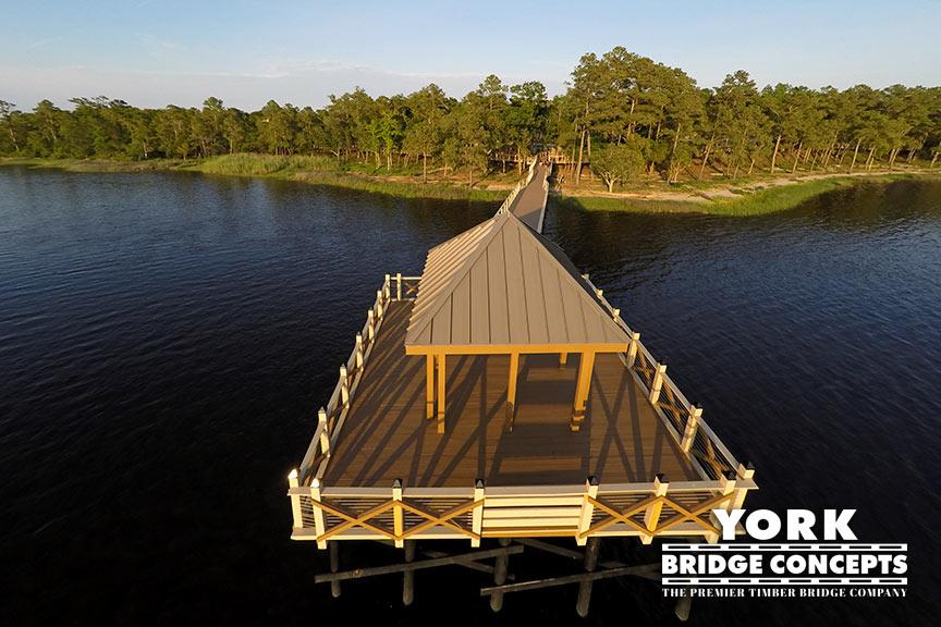River Lights Pier - Wilmington, NC | York Bridge Concepts - Timber Bridge Builders