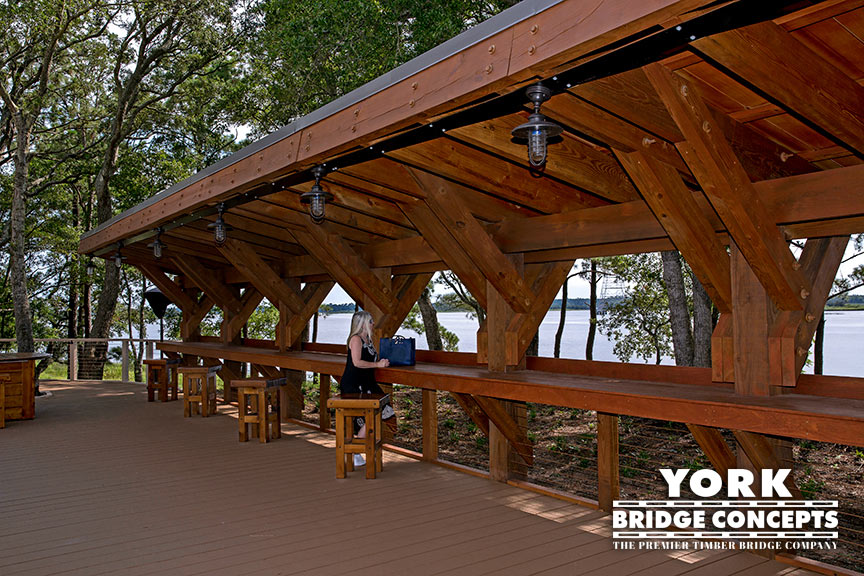 River Lights Outdoor Bar - Wilmington, NC | York Bridge Concepts - Timber Bridge Builders