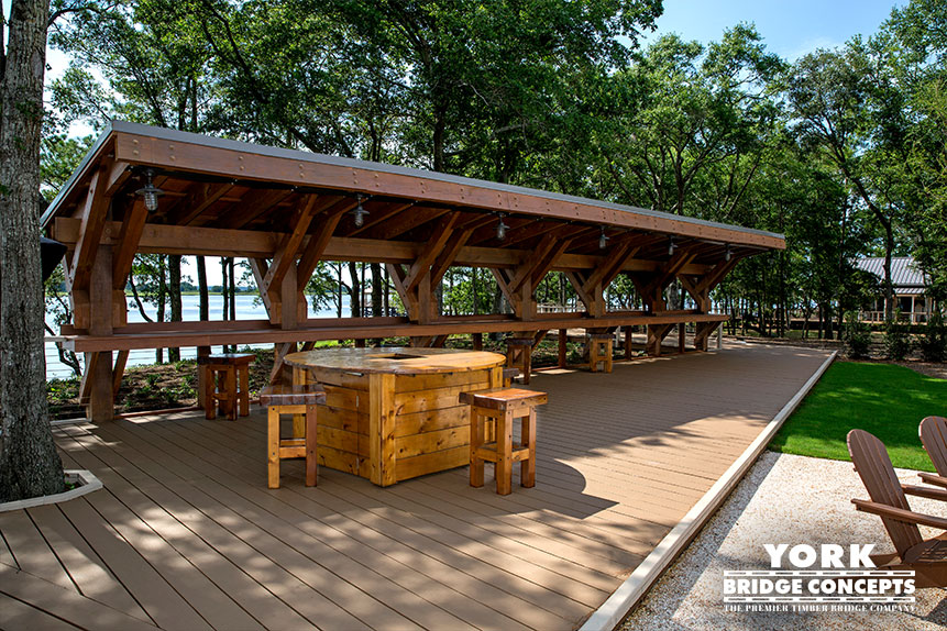 River Lights Outdoor Bar - Wilmington, NC | York Bridge Concepts - Timber Bridge Builders