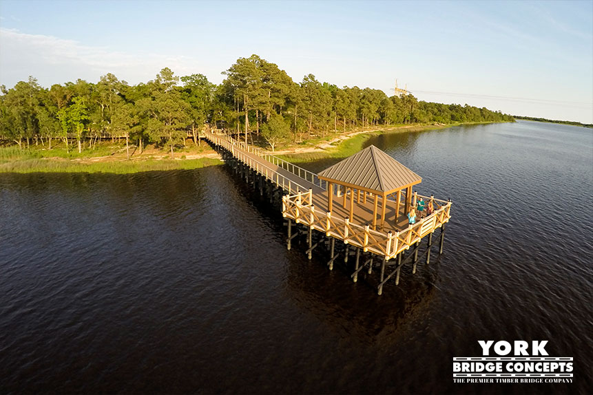 River Lights Pier - Wilmington, NC | York Bridge Concepts - Timber Bridge Builders