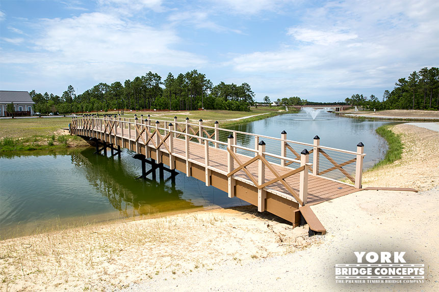 River Lights Pedestrian Bridge - Wilmington, NC | York Bridge Concepts - Timber Bridge Builders