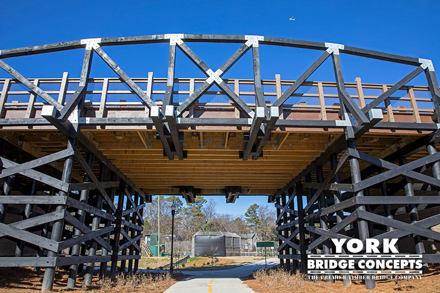 Parkview on Peachtree Vehicular Bridge - Chamblee, GA | York Bridge Concepts - Timber Bridge Builders