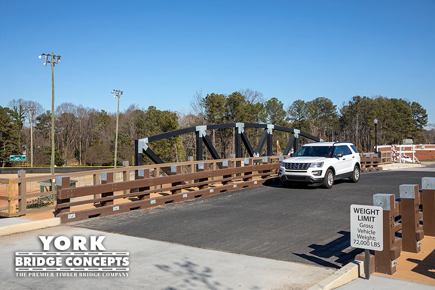 Parkview on Peachtree Timber Vehicular Bridge - Chamblee, GA | York Bridge Concepts - Timber Bridge Builders