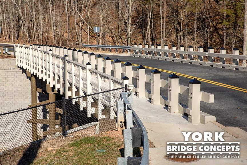 Inspired Living Vehicular Timber Bridge - Alpharetta, GA | York Bridge Concepts - Timber Bridge Builders