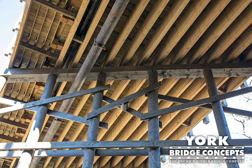 Inspired Living Vehicular Timber Bridge - Alpharetta, GA | York Bridge Concepts - Timber Bridge Builders