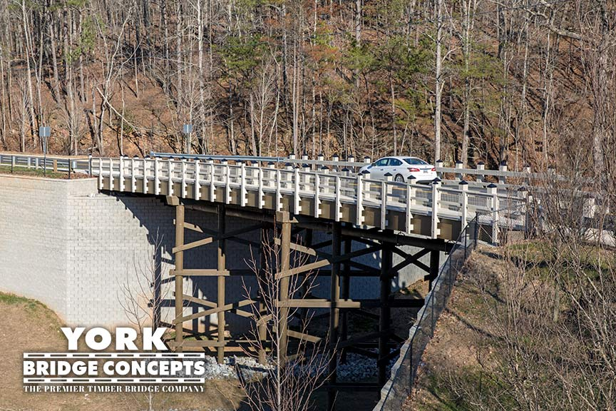 Inspired Living Vehicular Bridge - Alpharetta, GA | York Bridge Concepts - Timber Bridge Builders