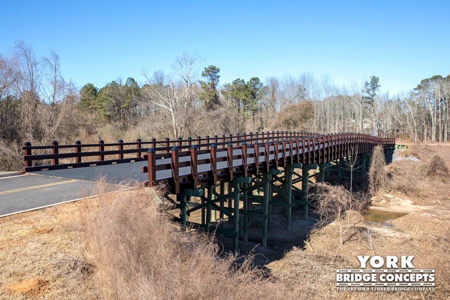 Town Village Vehicular Bridge - Marietta, GA | York Bridge Concepts - Timber Bridge Builders