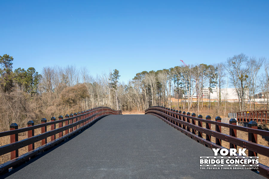 Town Village Timber Vehicular Bridge - Marietta, GA | York Bridge Concepts - Timber Bridge Builders