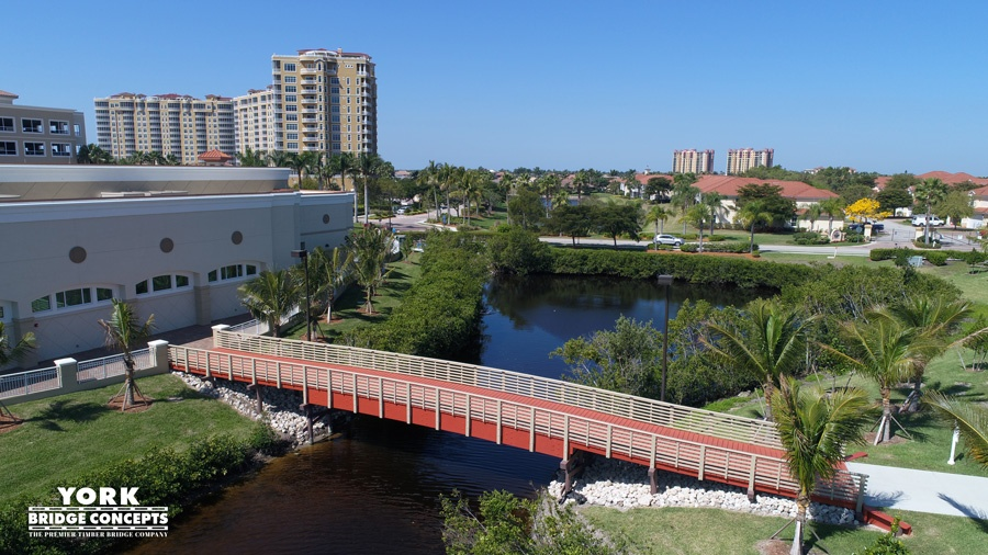 Westin at Marina Village Pedestrian Bridge - Cape Coral, FL | York Bridge Concepts - Timber Bridge Builders