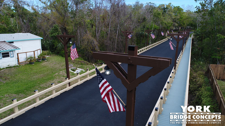 Bear Creek Vehicular Bridge - Ormond Beach, FL | York Bridge Concepts - Timber Bridge Builders
