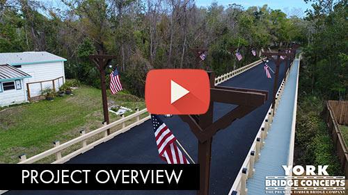 Bear Creek Timber Vehicular Bridge - Ormond Beach, FL | York Bridge Concepts - Timber Bridge Builders