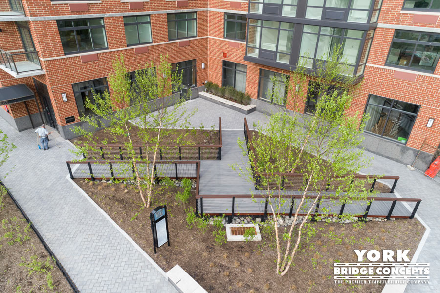 Hudson Tea Pedestrian Bridge - Hoboken, NJ | York Bridge Concepts - Timber Bridge Builders