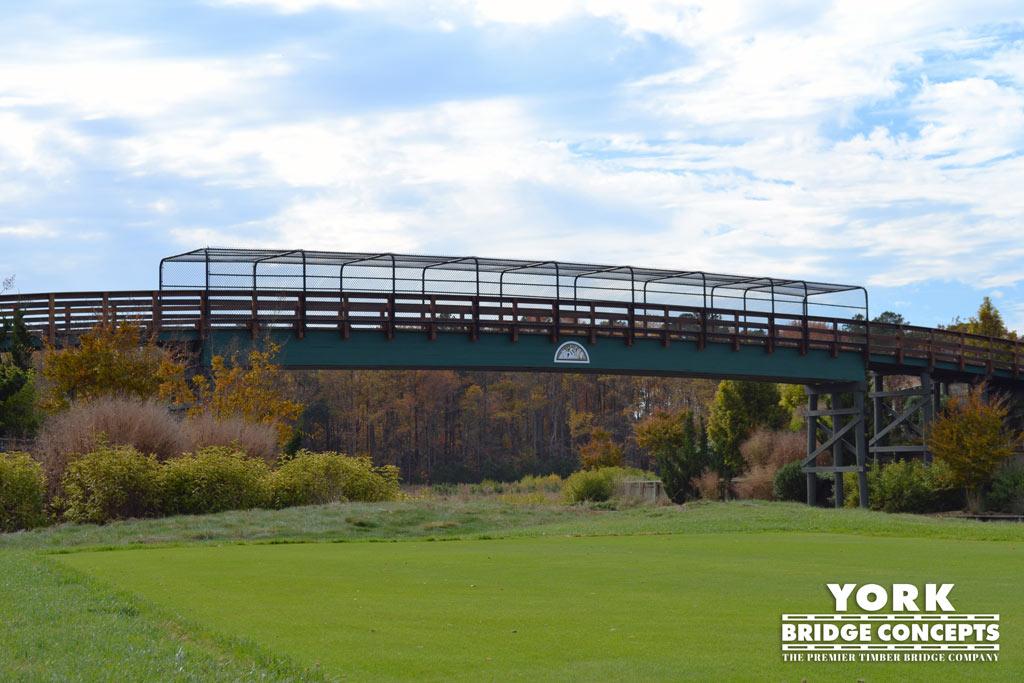Baywood Greens Golf Cart Bridges - Long Neck, DE | York Bridge Concepts - Timber Bridge Builders