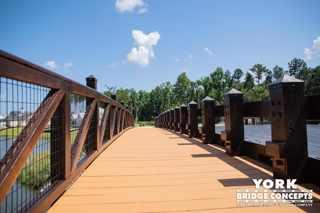 Hampton Lake Timber Vehicular Bridge - Bluffton, SC | York Bridge Concepts - Timber Bridge Builders