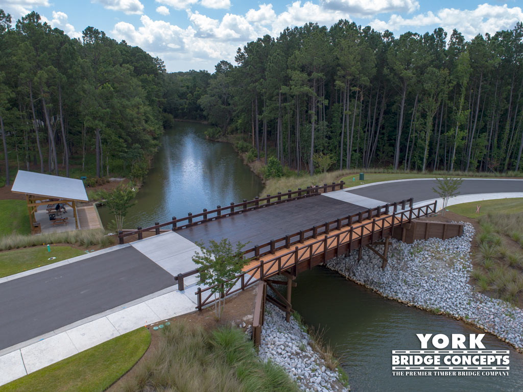 Hampton Lakes Vehicular Bridge - Bluffton, SC | York Bridge Concepts - Timber Bridge Builders