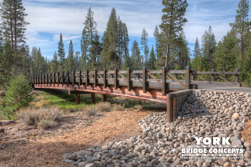 Sawmill Private Driveway Vehicular Bridge - Lake Tahoe, CA | York Bridge Concepts - Bridge Builders
