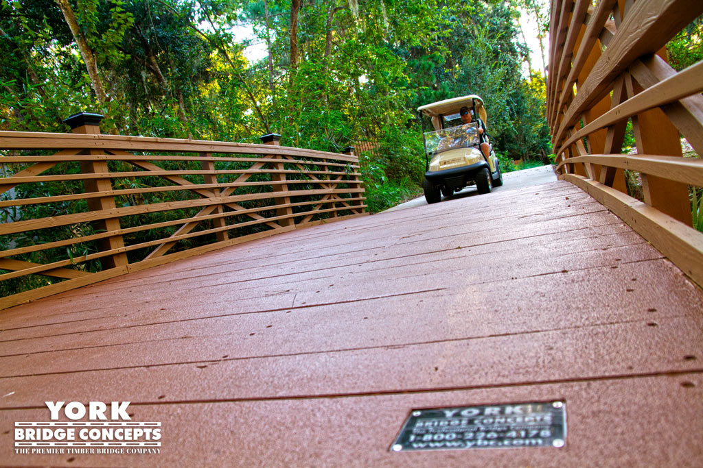 Sawgrass Marriott Golf Resort & Spa Golf Cart Bridges - Ponte Vedra Beach, FL | York Bridge Concepts - Timber Bridge Builders