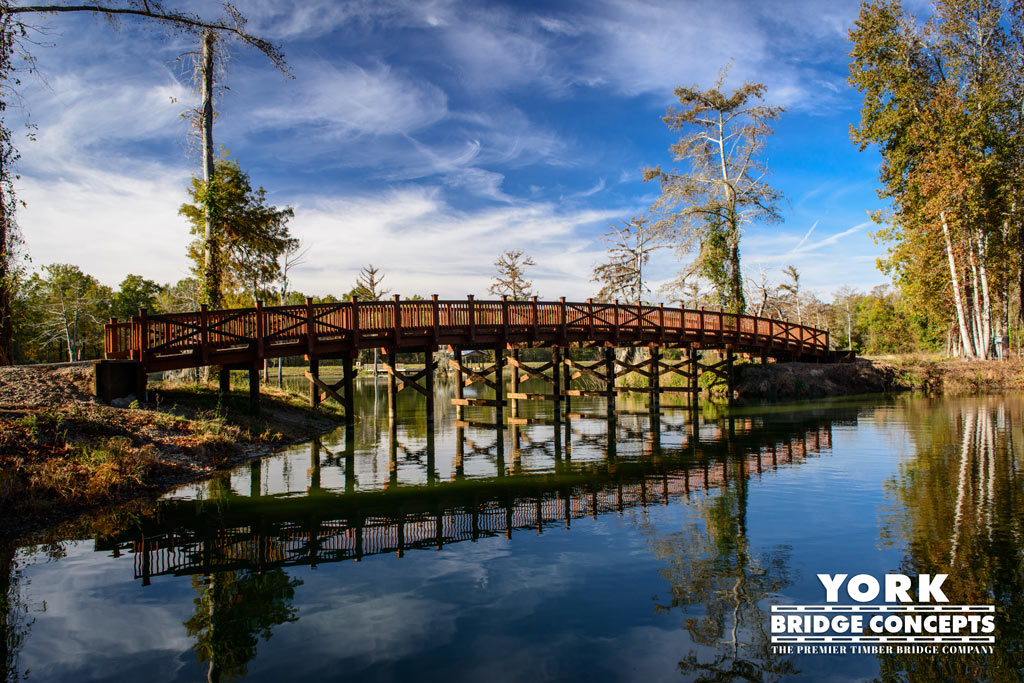 The Knight Ranch Golf Cart Bridge - Bordelonville, LA | York Bridge Concepts -Timber Bridge Builders