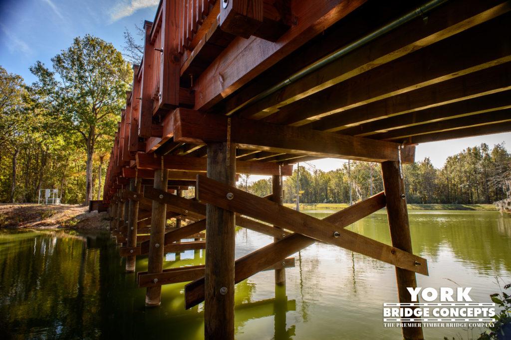 The Knight Ranch Golf Cart Bridge - Bordelonville, LA | York Bridge Concepts -Timber Bridge Builders