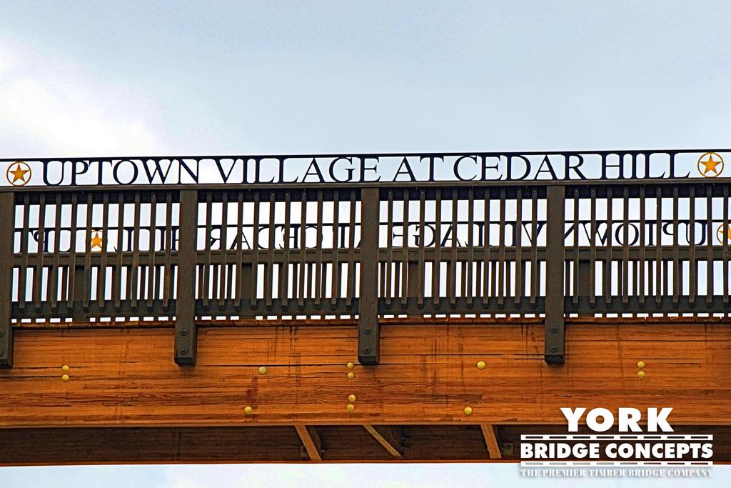 We build on site all timber bridge components | York Bridge