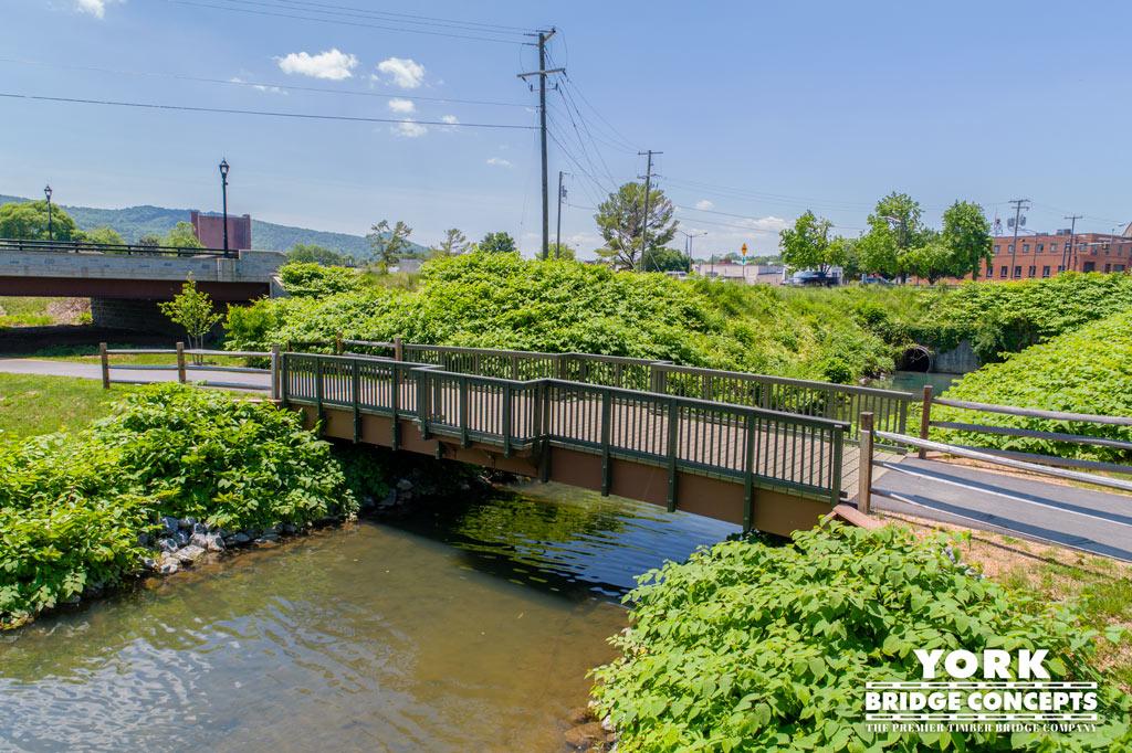 Waynesboro Trail Pedestrian Bridge - Waynesboro, VA | York Bridge Concepts - Timber Bridge Builders