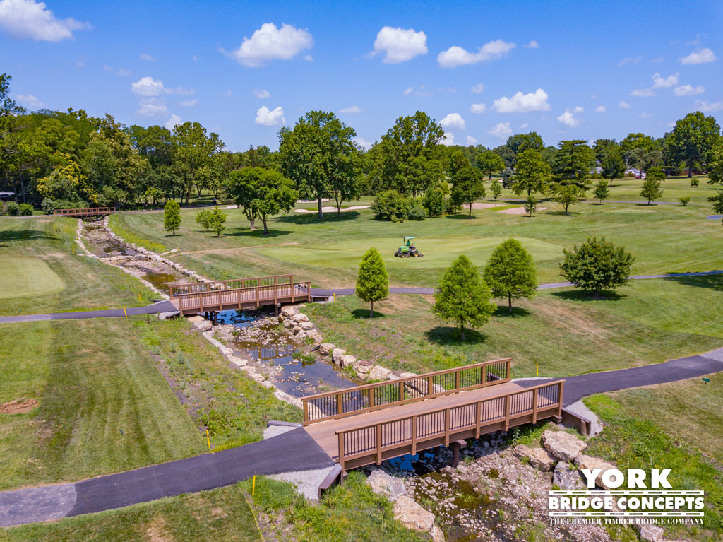 Westborough Country Club Golf Cart Bridges - St. Louis, MO | York Bridge Concepts - Timber Bridge Builders