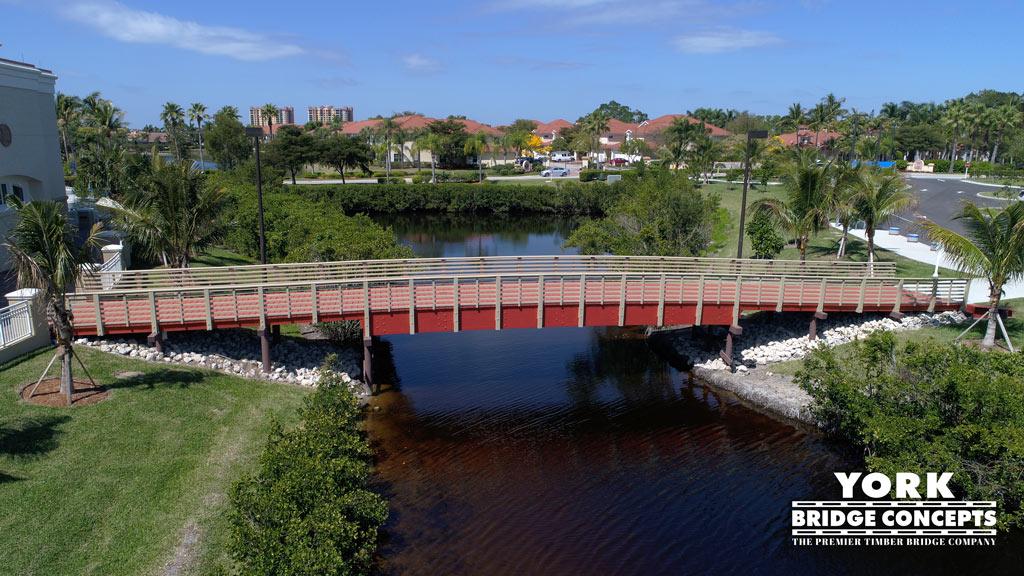 Westin at Marina Village Timber Pedestrian Bridge - Cape Coral, FL | York Bridge Concepts - Timber Bridge Builders