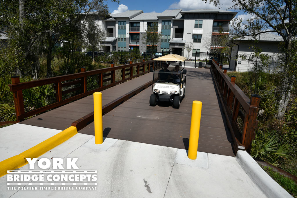 Crosstown Walk Apartments Golf Cart Bridge - Brandon, FL | York Bridge Concepts