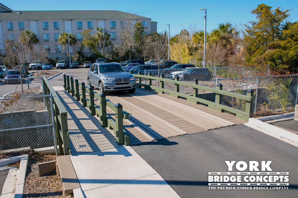 Hendrick's Auto Vehicular Timber Bridge, Charleston, SC | York Bridge Concepts
