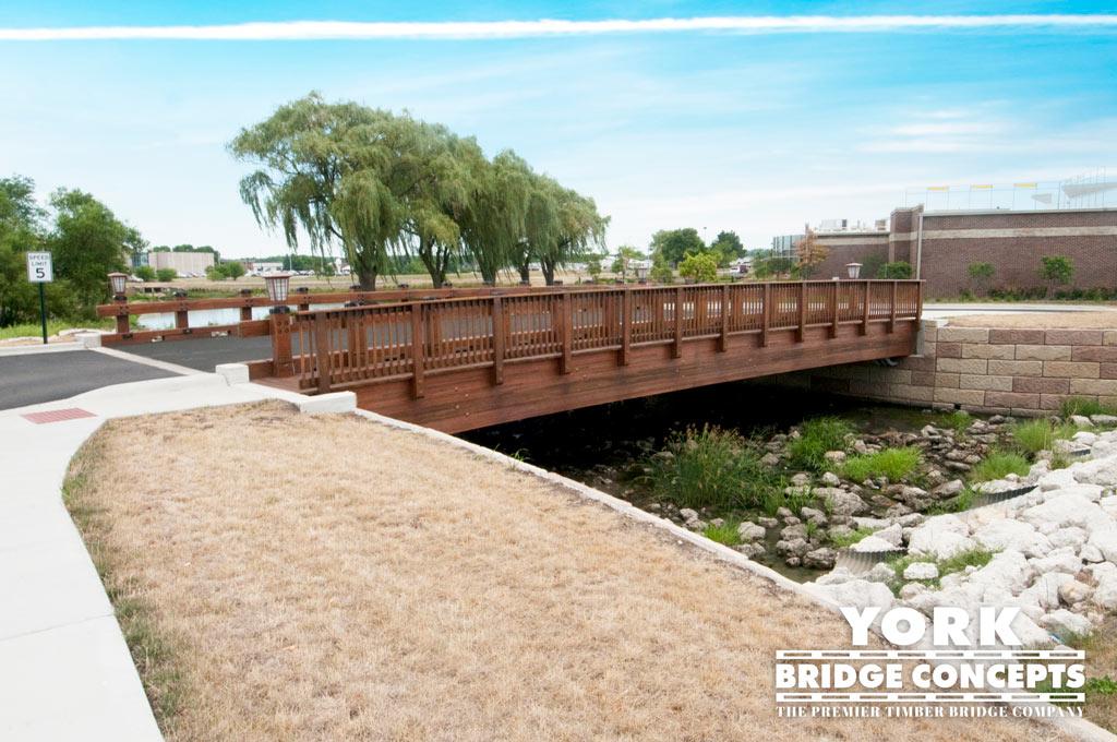 Kishwaukee Hospital Timber Vehicular Bridge - Dekalb, IL