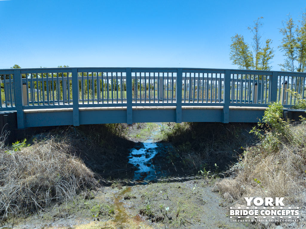 Millville by the Sea Timber Pedestrian Bridge - Millville, DE