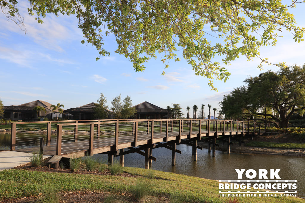 Esplanade at Palmer Ranch Timber Pedestrian Bridge | Timber Bridge Builders
