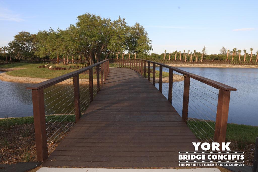 Esplanade at Palmer Ranch Timber Pedestrian Trail Bridge | Timber Bridge Builders