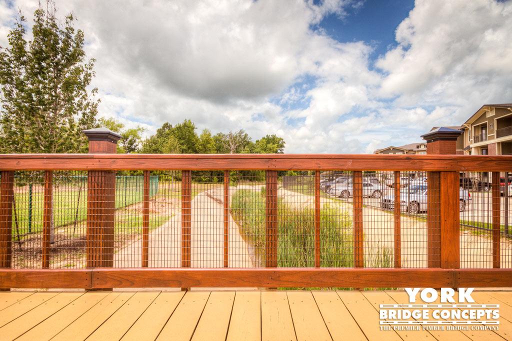 Palomar Apartments Timber Pedestrian Bridge - Tyler, TX | York Bridge