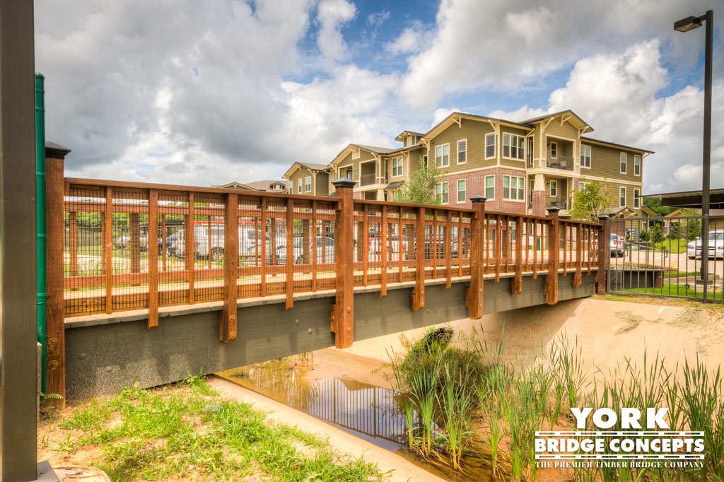 Palomar Apartments Timber Pedestrian Bridge - Tyler, TX | York Bridge