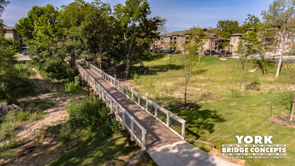 River Springs at Barge Ranch Timber Pedestrian Bridge - Belton, TX | York Bridge Concepts