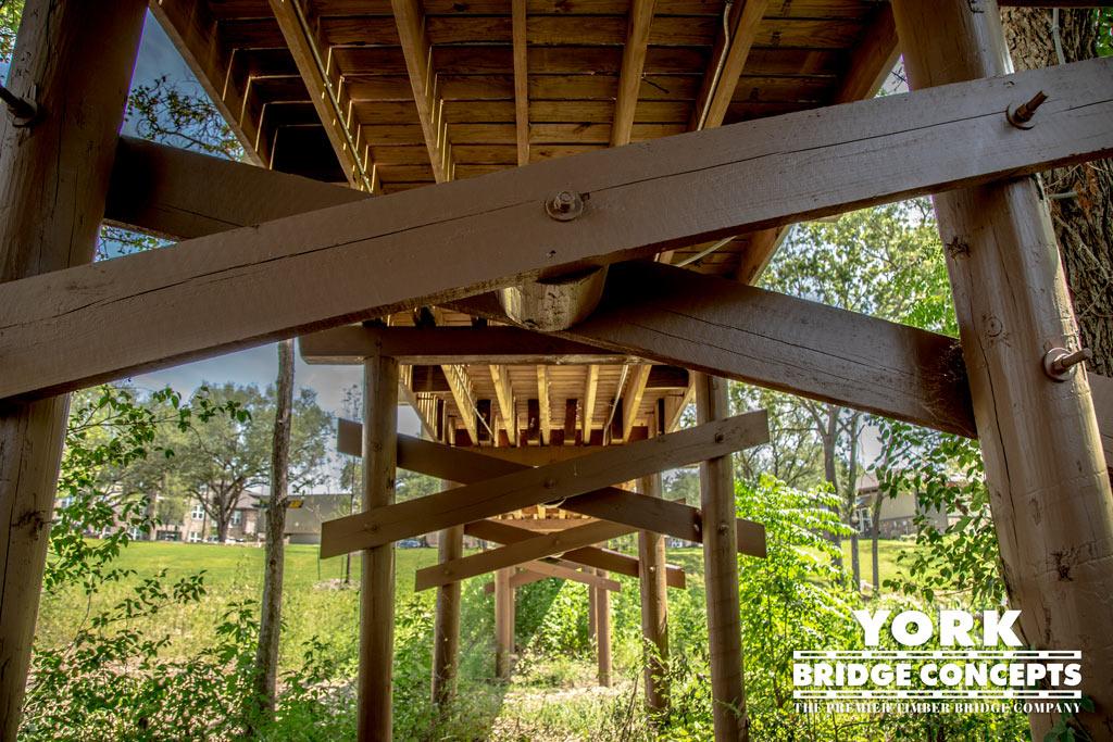 River Springs at Barge Ranch Timber Pedestrian Bridge - Belton, TX | York Bridge Concepts