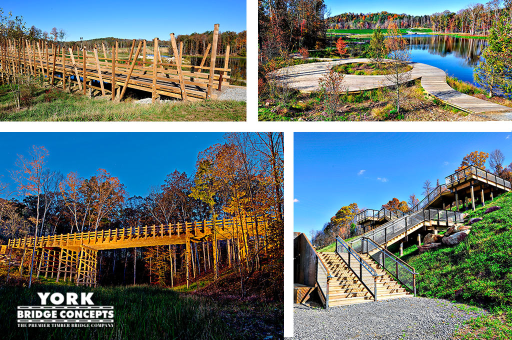 Summit Bechtel Reserve Timber Bridges - Vehicular Bridges, Pedestrian Bridges, Boardwalk Design | York Bridge Concepts
