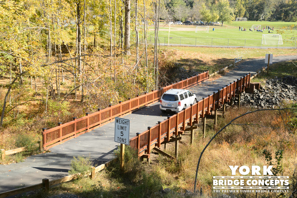 Suffield High School Vehicular Bridge - Suffield, CT | York Bridge Concepts
