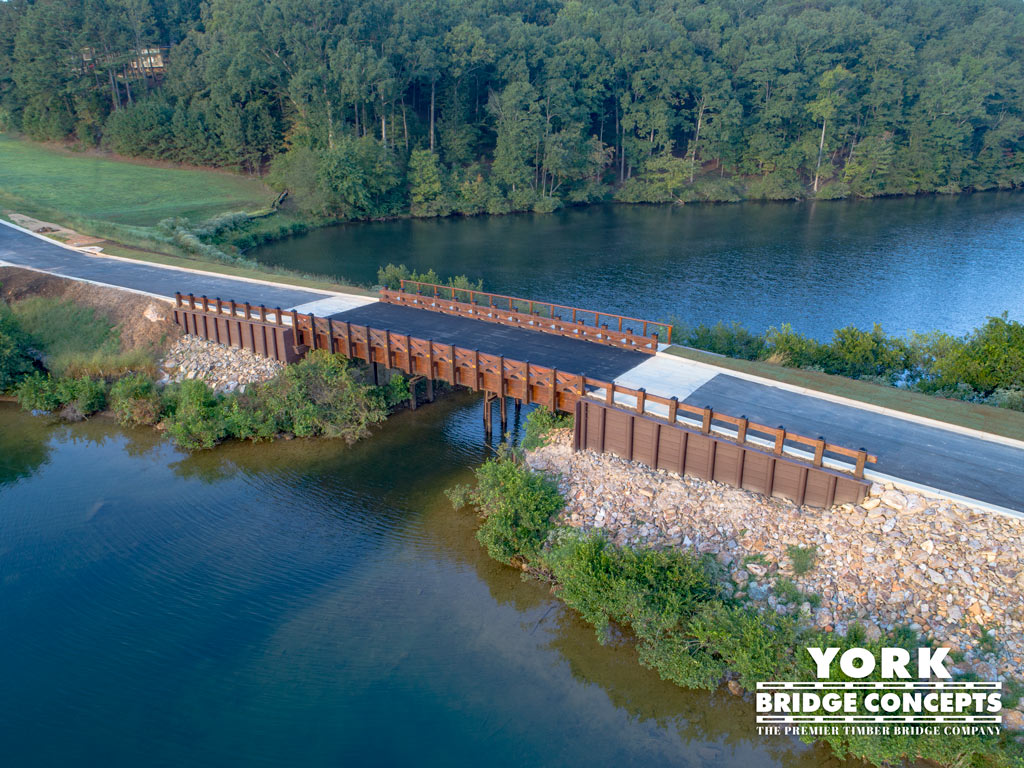 Lake Arrowhead Timber Vehicular Bridge - Waleska, GA | York Bridge Concepts