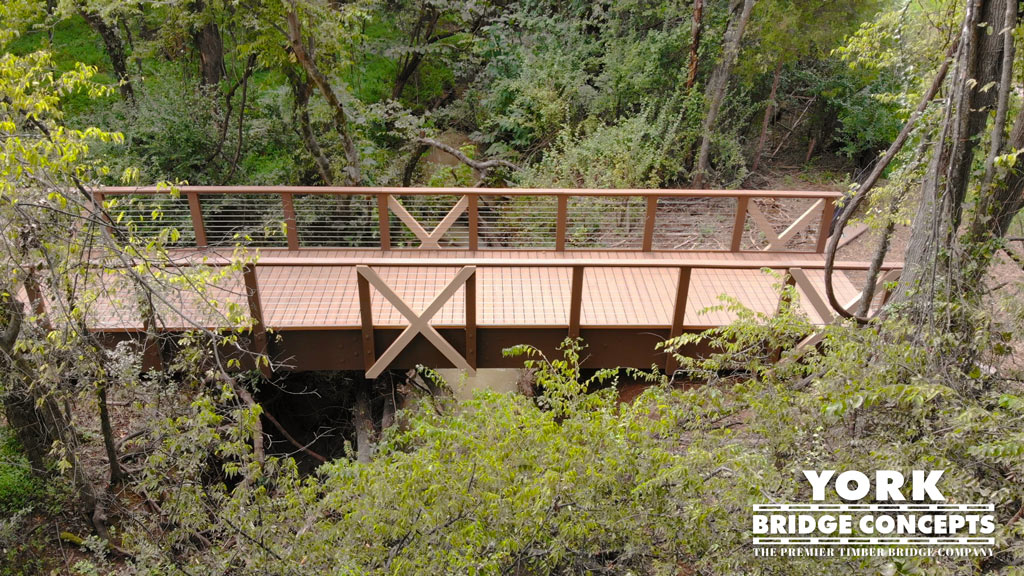 Solis Berewick Apartments Timber Pedestrian Trail Bridge - Charlotte, NC | York Bridge