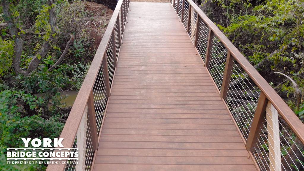 Solis Berewick Apartments Timber Pedestrian Trail Bridge - Charlotte, NC | York Bridge