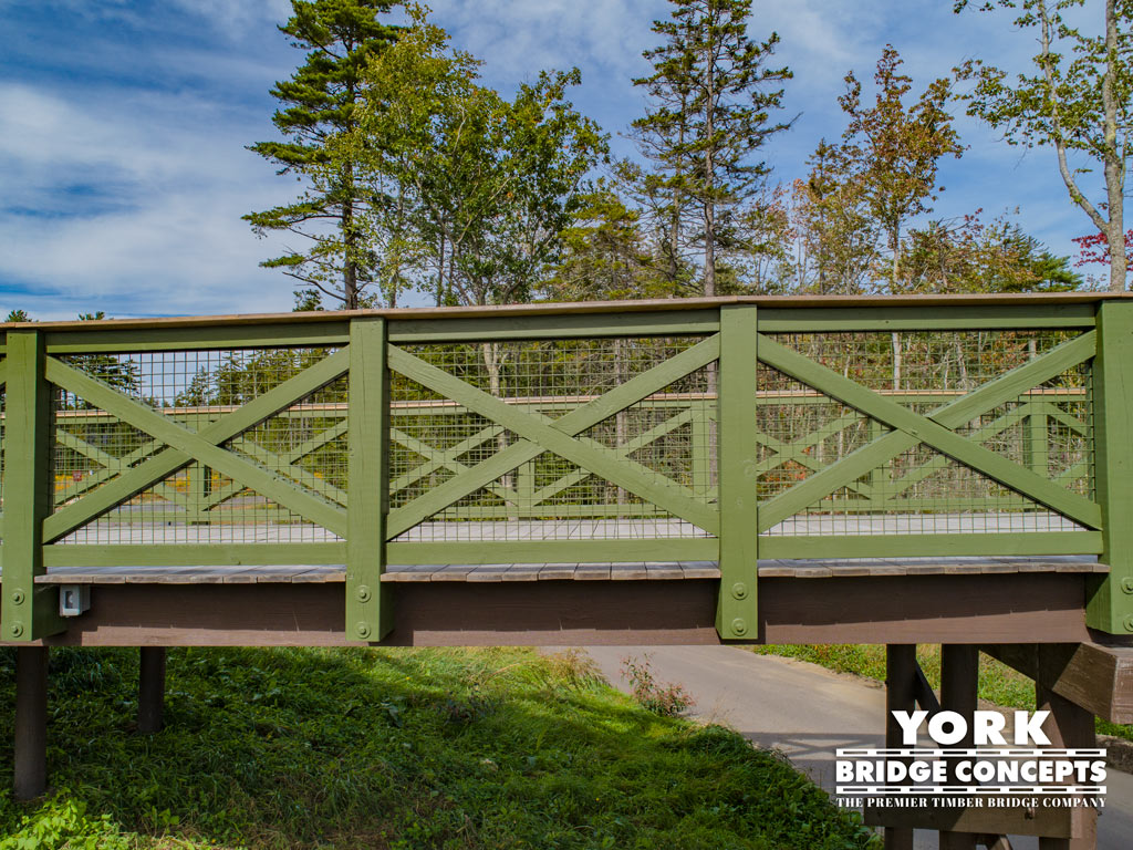 Coastal Maine Timber Pedestrian Bridge - Boothbay, ME | York Bridge Concepts