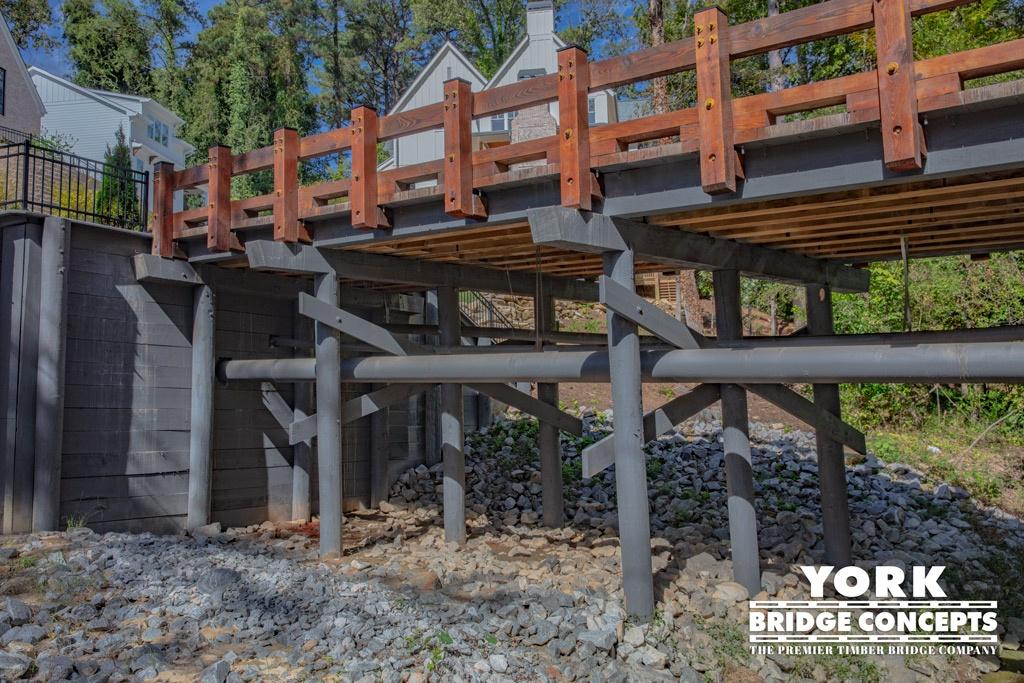 Heights at Ashford Park Timber Vehicular Bridge - Atlanta, GA