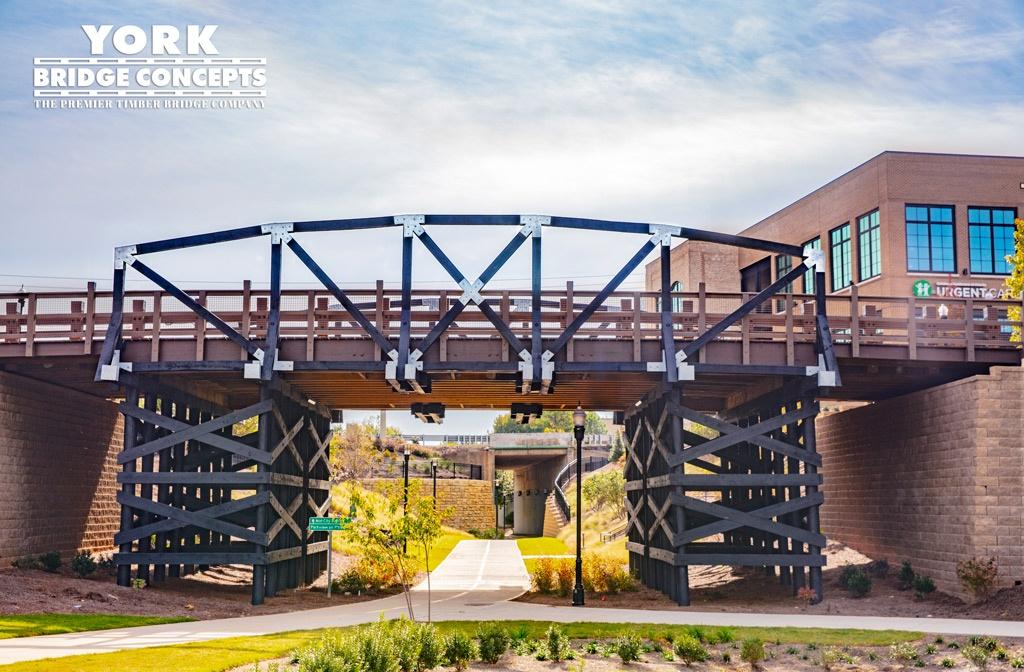 Parkview on Peachtree Timber Vehicular Bridge - Chamblee, GA | York Bridge Concepts - Timber Bridge Builders