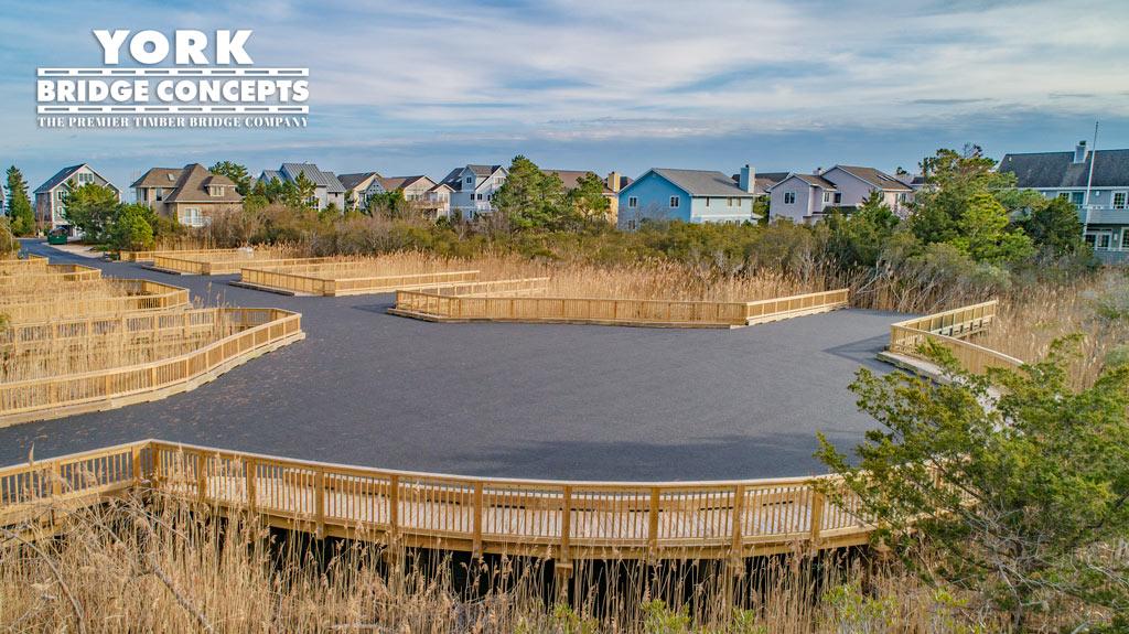 Breakwater Beach Timber Cul-de-Sac | Wetland Residential Driveway Construction | York Bridge Concepts