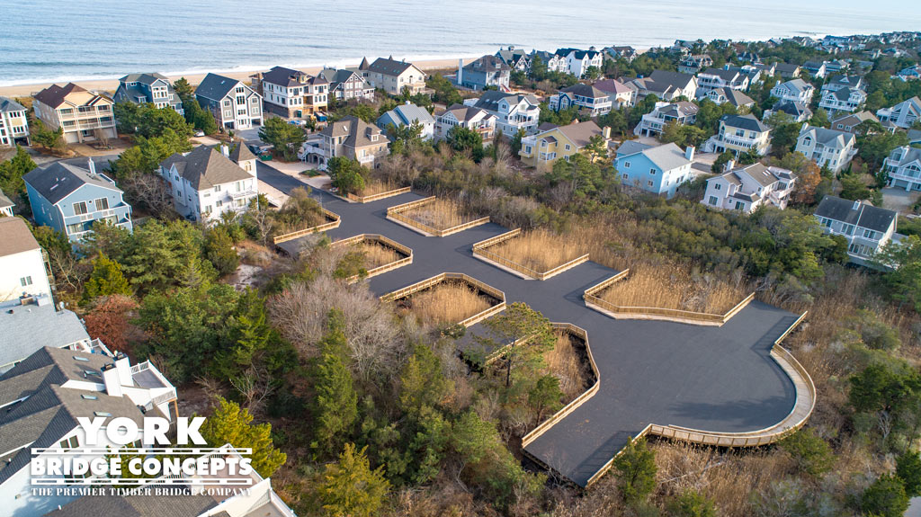 Breakwater Beach Timber Cul-de-Sac | Wetland Residential Driveway Construction | York Bridge Concepts