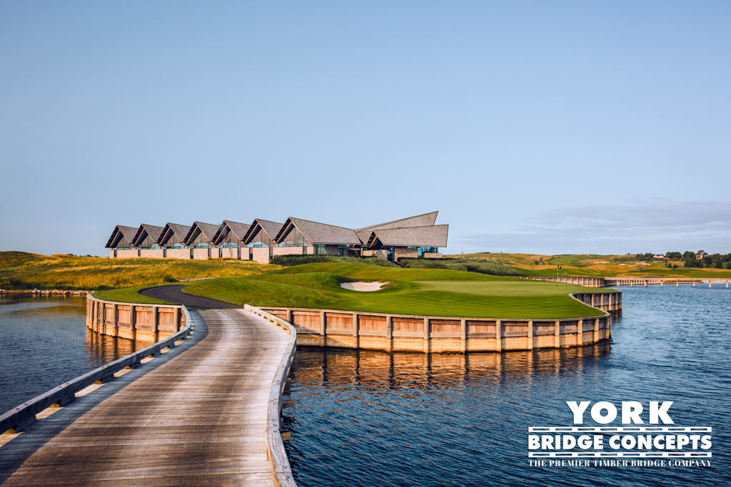 Great Northern Denmark Golf Course Bridges, Timber Retaining Walls, Timber Waterfall