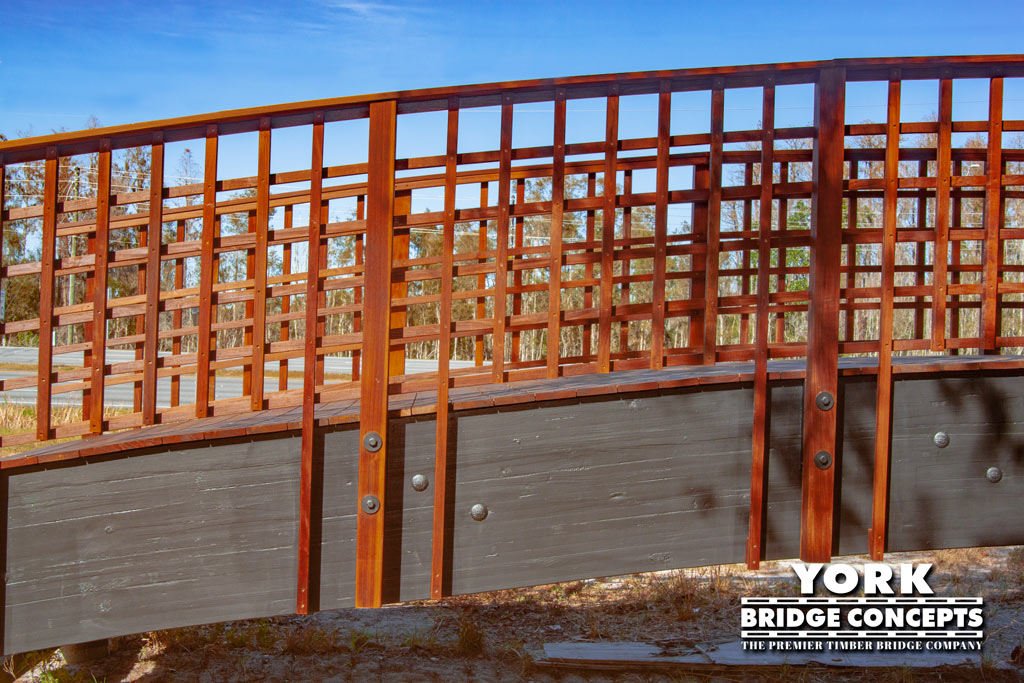 Composition Squared Prefabricated Timber Pedestrian Bridge For Sale | York Bridge